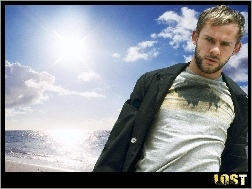 niebo, s�o�ce, Dominic Monaghan, Filmy Lost, ocean
